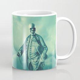 Lord Bonehead VINTAGE GREEN / Skeleton portrait Coffee Mug