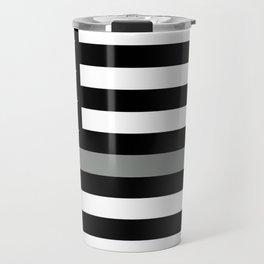 U.S. Flag: Black Flag & The Thin Grey Line Travel Mug