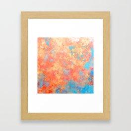 Summer Rain - Original Abstract Art by Vinn Wong Framed Art Print