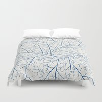 feet Duvet Covers featuring Cold Feet by rskinner1122
