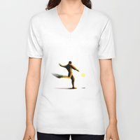 soccer V-neck T-shirts featuring Soccer by Enzo Lo Re