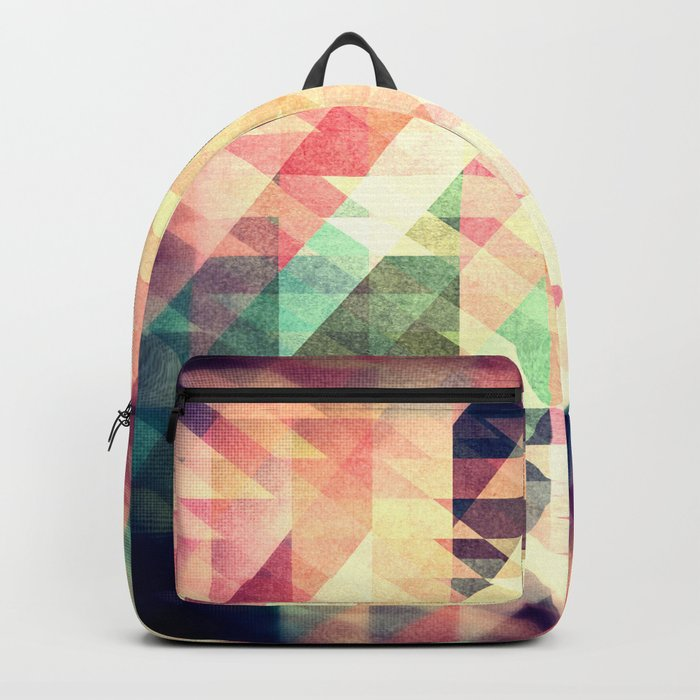 Textured Geometric Abstract Backpack