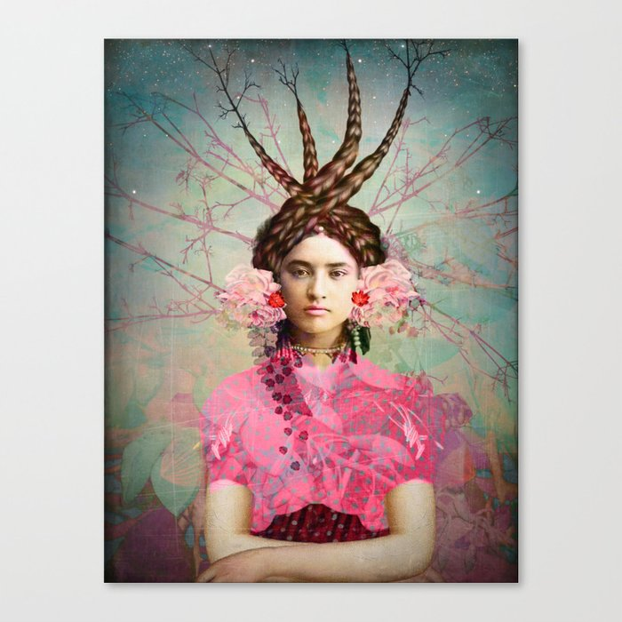 Portrait in Pastell Canvas Print
