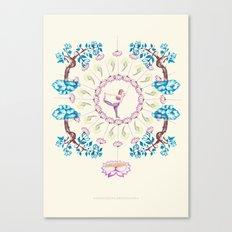 yoga garden V Canvas Print