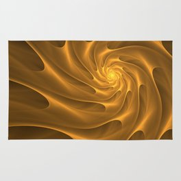 Gold Sahara. Hot desert. Sand dunes. Abstract golden spiral Rug