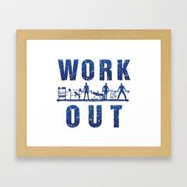 Work Out Framed Art Print