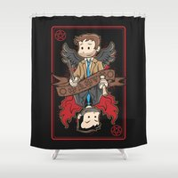 crowley Shower Curtains featuring Kings Among Men by Fanboy30