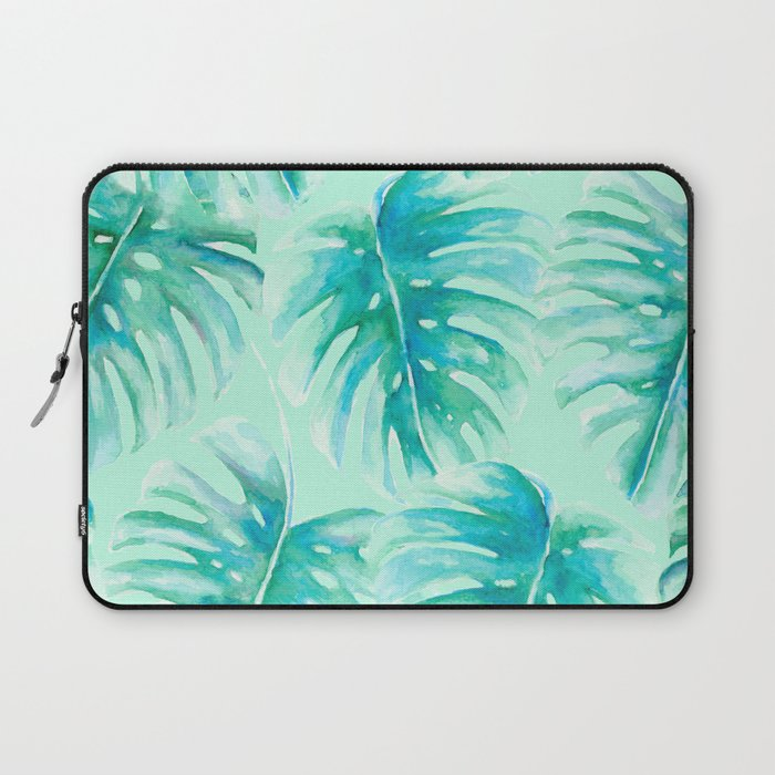 Paradise Palms Mint Laptop Sleeve