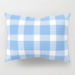 Plaid Sky Blue Pillow Sham