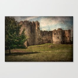 Chepstow Castle Towers Canvas Print