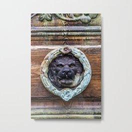 Lion Door Knocker - Regal Leo Travel Photography Metal Print