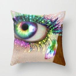 Rainbow Eye Throw Pillow