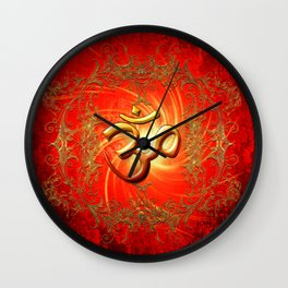 Om sign Wall Clock