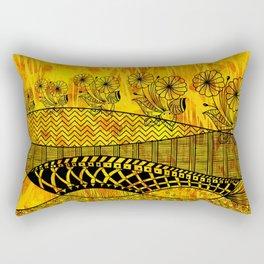 Posey Parade Flowerscape Rectangular Pillow