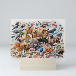 100 animals Mini Art Print
