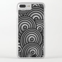 Charcoal Swirls Clear iPhone Case