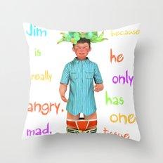 Angryocto - Jim's Lasthope Throw Pillow