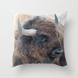 Thank you  buyers - In The Presence Of Bison Throw Pillow