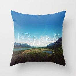 Let's Run Away: Columbia Gorge, Oregon Throw Pillow