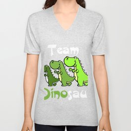 Team Dinosaur (Green) Unisex V-Neck