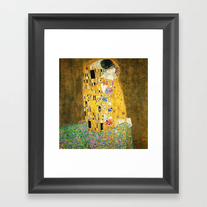 Gustav Klimt The Kiss Gerahmter Kunstdruck