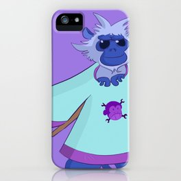 Monkamole the Spectacled Langur iPhone Case