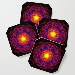 Silkweave / Neon Sigil 1 Coaster