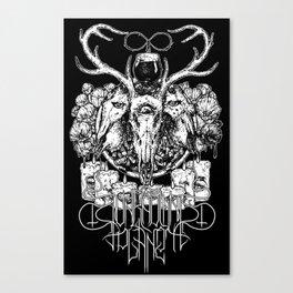 Unknown Panet ritual shirt blacked Canvas Print