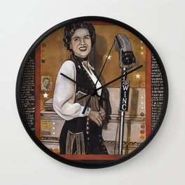 Patsy Cline Wall Clock