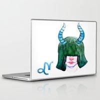 capricorn Laptop & iPad Skins featuring Capricorn by Aloke Design