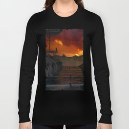 Drevos - Sci Fi - Sunset - Science Fiction - ZG 3D Long Sleeve T-shirt