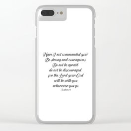 Joshua 1 9 #minimalism Clear iPhone Case