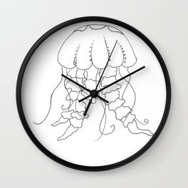 Jellyfish Outline - Under the Sea Collection Wall Clock