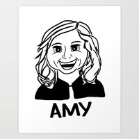 amy poehler Art Prints featuring Amy Poehler by Flash Goat Industries