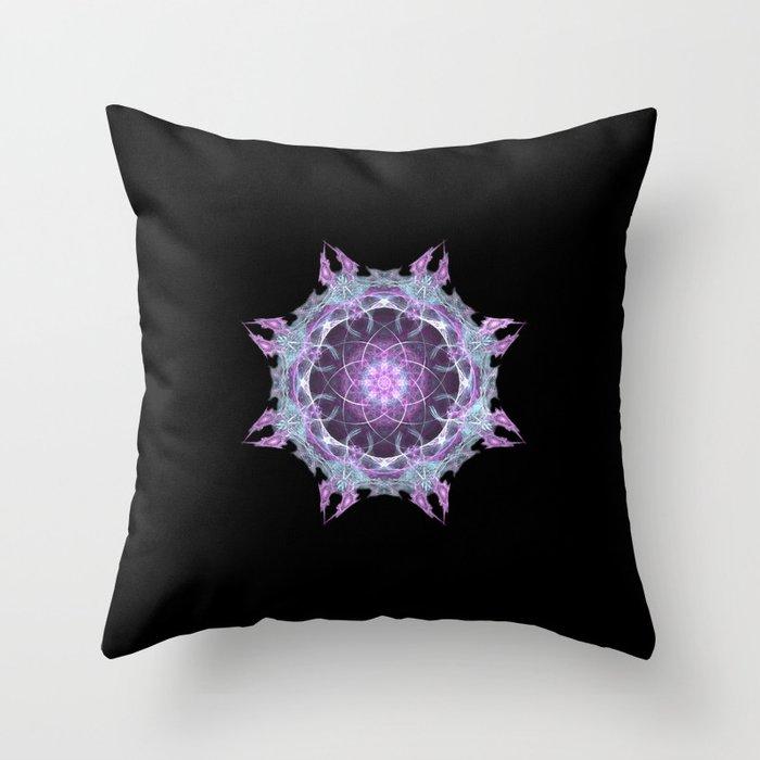 Fractal Mandala 2 Throw Pillow