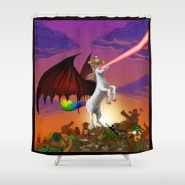 The King is Dead! Shower Curtain