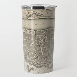 19th Century Topographical Vintage Antique Map Antwerp Belgium Steampunk Travel Mug