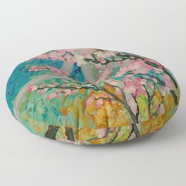 Prunus serrulata Floor Pillow