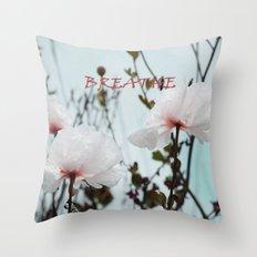 Matilija White Poppies Throw Pillow