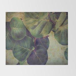 Sea Grape Throw Blanket