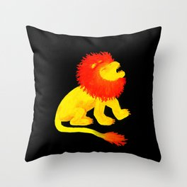 The Song of the Lion is Fire (dark) Throw Pillow