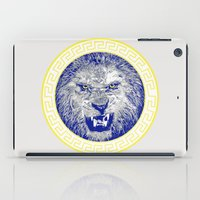 versace iPad Cases featuring Versace Lion by Hans Poppe