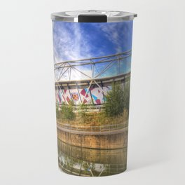 West Ham Olympic Stadium And The Arcelormittal Orbit  Travel Mug