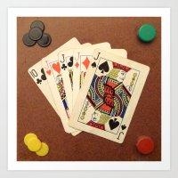 Poker de Jotas Art Print