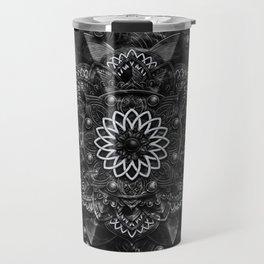 Black Marble Mandala Travel Mug