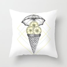 Lemon Ice Cream Throw Pillow