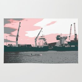harbor rowing Rug