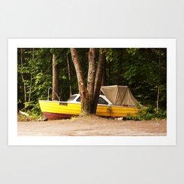 Sailing through norwegian woods Art Print