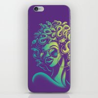 funky iPhone & iPod Skins featuring Funky Medusa by Waynem