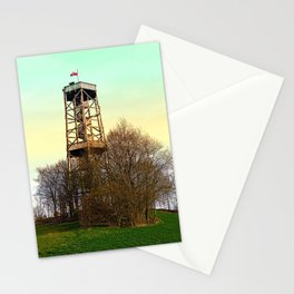 Observation tower in vivid colors   architectural photography Stationery Cards